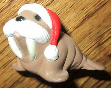 Hallmark Merry Miniatures 1990 Walrus With Santa Christmas Hat
