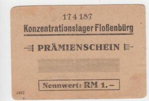 1 Reichsmark Prämienschein 1943 Germania/Konzentrationslager Flossenbürg