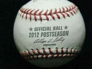 New Rawlings MLB 2012 Post baseball silver printing red stitching