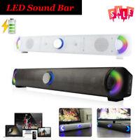 Wireless Bluetooth LED Sound Bar Computer Speaker Soundbar Audio for Home PC TV