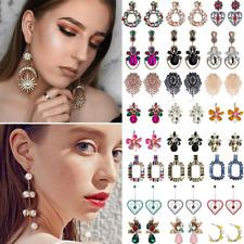 Women Bohemia Crystal Rhinestone Long Earrings Drop Dangle Stud Fashion Jewelry
