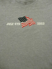 XL gray unique JULY 4TH 2003 AMERICAN flag t-shirt - America - holiday
