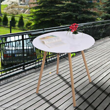 White Modern Round Table Tea Coffee Dining Living Room Furniture Home Decor New