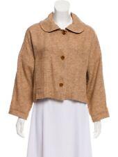 Marni Light Brown Linen Jacket w/ Peter Pan Collar, Size 10 (US) 44 (IT)