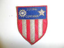 0483 WW 2 US Army Air Force Bullion 2nd Second Air Commando CBI Patch C8A1