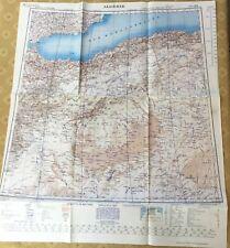 1943 Original WW2 Map of Africa Algeria RAF Allied Forces Military Issue