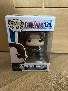 Funko Pop Vinyl Winter Soldier 129 Marvel Captain America Civil War