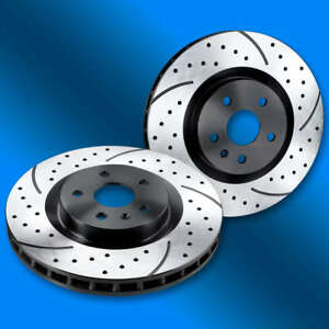 Dimpled & Slotted Brake Rotors, Rear, 2014  SS Sedan V8 - Black Zinc Finish