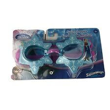 Swimways Disney Frozen Elsa and Anna Kids Swim Goggles Latex Free Ages 3 &Up New