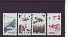 POLAND - SG2424-2425b MNH 1976 AIR - CONTEMPORARY AVIATION