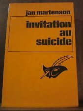 Jan Martenson: Invitation au suicide / Le Masque N°1523, 1978
