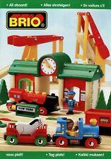 0001BRI Brio Spielzeugkatalog 1999 Prospekt Holzeisenbahn Holzspielzeug catalog