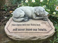 Dog Memorial Verse - Memorial - Garden Ornament  - Hand Cast
