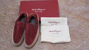NIB Salvatore Ferragamo Curtis Red(Pomegranate) Espadrille Suede Loafer Sz US 7M