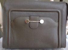 JASON WU Daphne Leather Clutch Bag, Dark Olive Lknew $1195.00