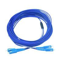 20M 2 Strand Armored Cable SC UPC to SC UPC SM 9/125 Duplex Fiber Patch Cord