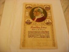 Vintage Pope Pius XII Pont. Max Document