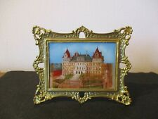 Circa 1900 Souvenir Reverse Painting Glass Capitol Building Albany New York