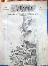 1853 L'ALBUM DI ROMA CON RACCONTO DI UN VIAGGIO A GERUSALEMME NEL 1852. LIBANO