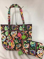 Vera Bradley Disney Midnight With Mickey XL Vera Tote & Cosmetic Bag NWT