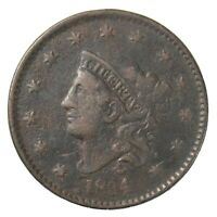 1834 Coronet Head Large Cent 1¢ Very Fine+