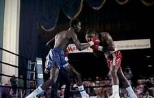 00004000 Old Boxing Photo Mark Breland Lands A Right Punch Against Marlon Starling