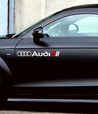 Audi A3 A4 A5 A6 A8 S4 S5 S6 RS4 RS5 RS6 Racing Decal sticker emblem logo WHITE