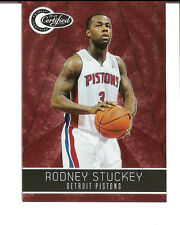2010-11 RODNEY STUCKEY TOTALLY CERTIFIED RED #001/499 - DETROIT PISTONS RARE #1