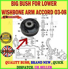FOR HONDA ACCORD 2.0 2.2 2.4 03- FRONT LOWER WISHBONE SUSPENSION ARM BIG BUSH X1