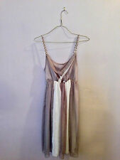 Sheer Brown and Beige Day Dress
