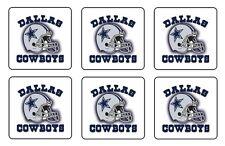 """DALLAS COWBOYS COASTERS 1/4"""" BAR & BEER SET OF 6"""