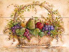 24 x 18 Art Mural Ceramic Fruits Basket Backsplash Tile #117