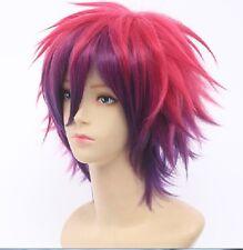 No Game No Life Sora Short Anime Cosplay Costume Wig + Free Wig CAP