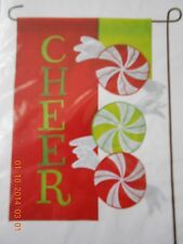 Christmas Candy Mini Garden Flag-Nip-Bright Colors&Sparkles-Fast Usa Shipping