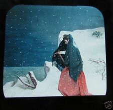 Glass Magic lantern slide A TERRIBLE CHRISTMAS EVE NO.14 C1890 VICTORIAN TALE