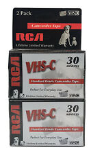 2 Pack RCA VHS-C 30 Minutes Standard Grade Camcorder Tape New Sealed