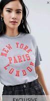 Fab Wednesdays girl for ASOS slogan t shirt size XS 8 similar whistles