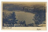 RPPC Aerial View BRANCHPORT NY Keuka Lake Yates County Real Photo Postcard