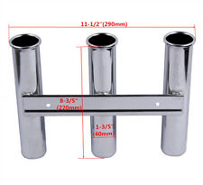 Boat Stainless Steel Fishing Rod Holder 3 Link Rack Marine Yacht Rod Pod 3 Tubes