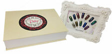 Chrome Mirror Nail Powder Kit with 12 Colors, Applicators, and Color Chart