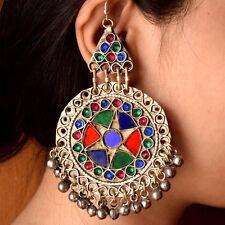 Afghan Kuchi Earrings Tribal Jewelry Bohemian Belly Dance Ethnic Hippie Boho