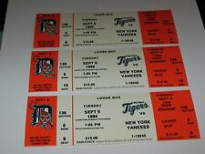 Lot of (3) Detroit Tigers Full Tickets From Sep 6. 1994 vs New York Yankees ~NM