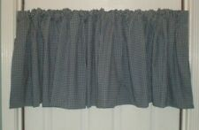 JCPenney Balloon / Straight Valance Navy Blue White Gingham Check USA 2 Avail