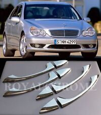 DELUXE ROYAL CHROME Door Handle Trims for Mercedes W203 W211 W219 C E CLS AMG