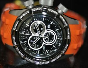 Invicta Men's Rare Reserve Swiss Chronograph Black Dial Orange Poly Watch 20447