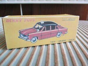 Dinky Toys 542 24ZT Taxi Simca Ariane Boîte vide