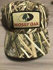 Mossy Oak Shadow Grass Blades Camo Label Patch Logo Trucker Cap NEW!