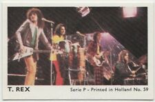 T.REX Entire Band T REX 1970s Dutch Gum Trading Card Series P #59 E3