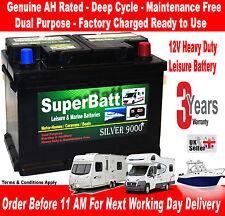 12V 75AH SuperBatt LH75 Deep Cycle Leisure Battery Caravan Motorhome Campervan