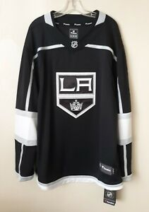 LA Kings NHL Hockey Fanatics Jersey XL MENS BLACK, GRAY, WHITE LOGO